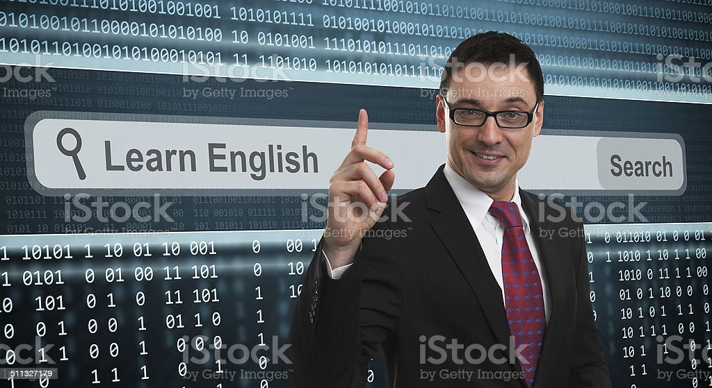 Learn english concept stock photo