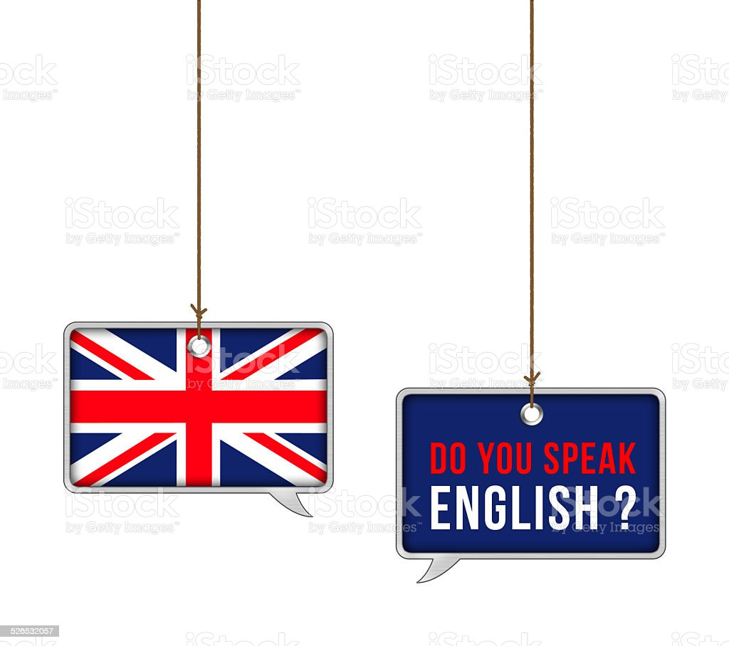 Learn English - illustration concept stock photo