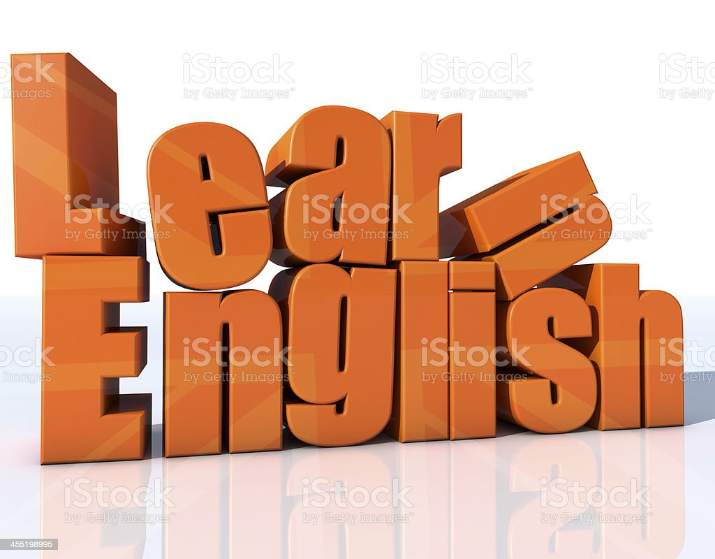 Learn english stock photo
