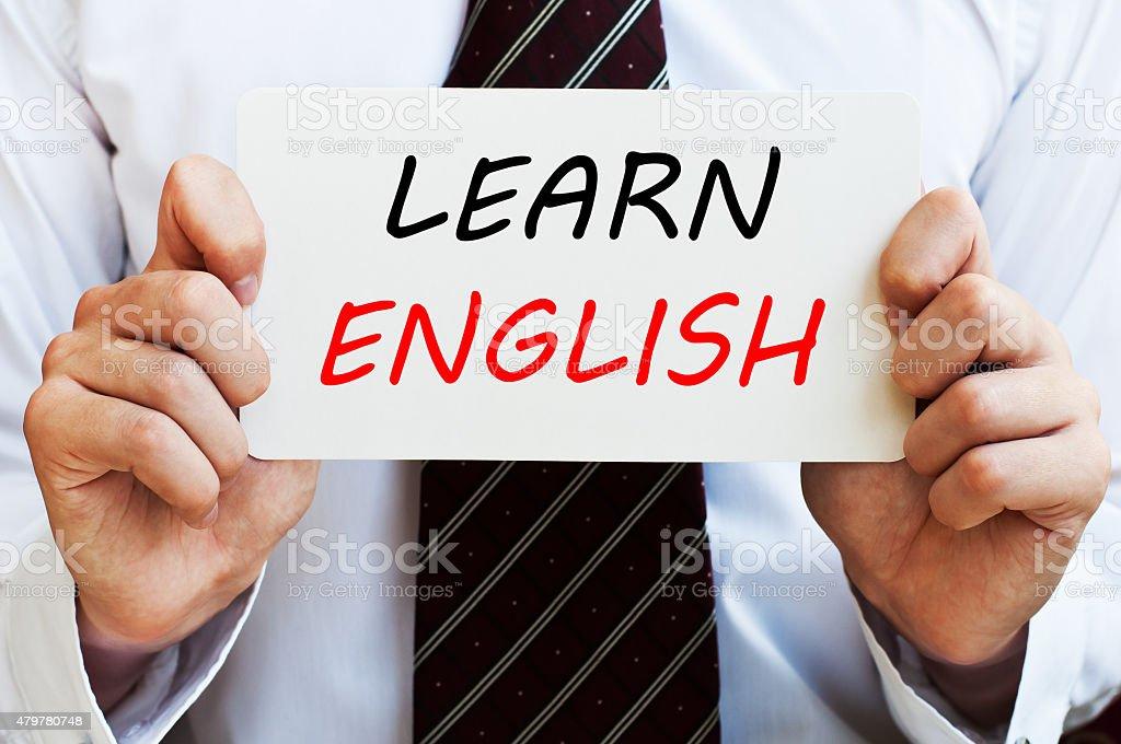 Learn English stock photo