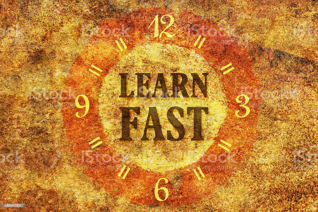 Learn fast stock photo