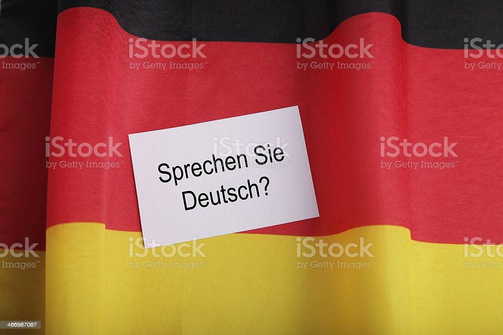 Learn German stock photo