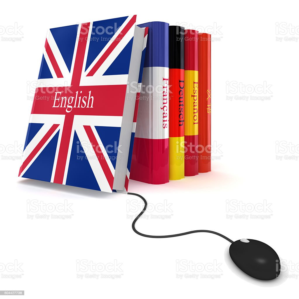 Learn language online stock photo