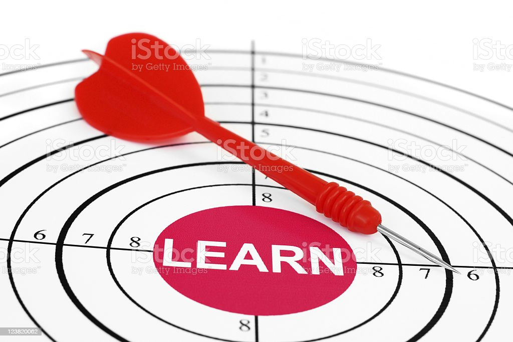 Learn target stock photo