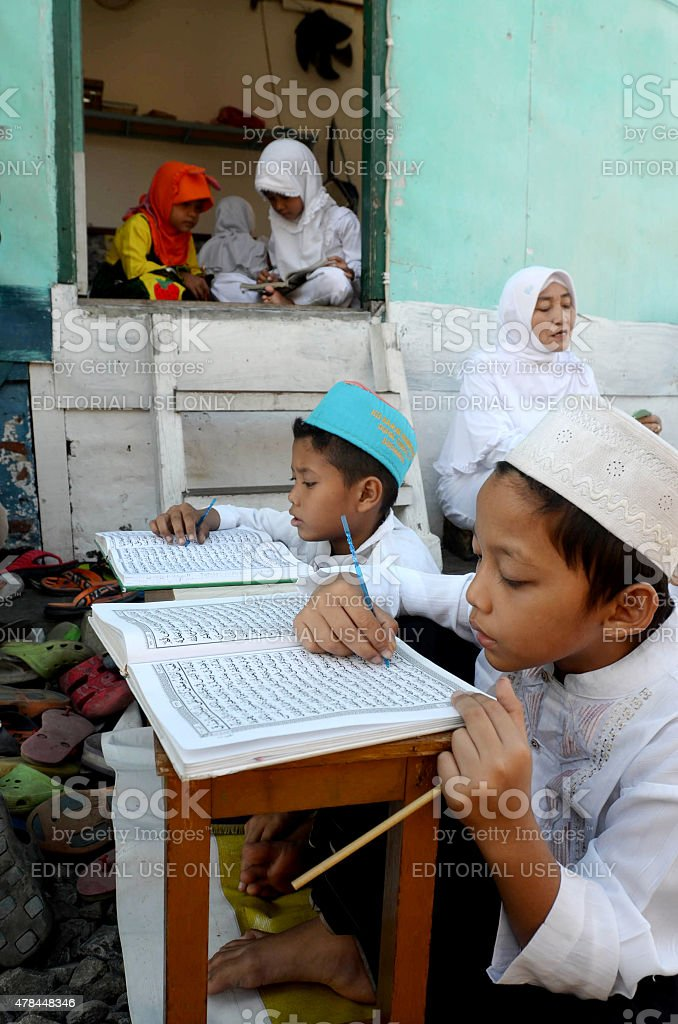 Learn the Quran stock photo