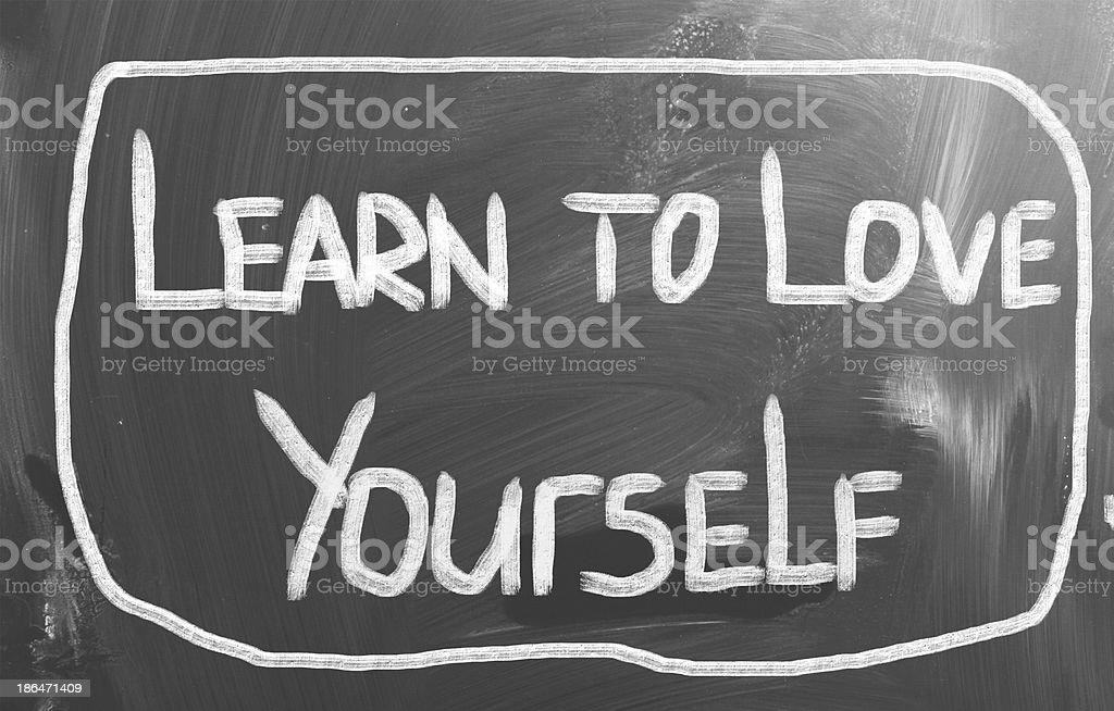 Learn To Love Yourself Concept royalty-free stock photo