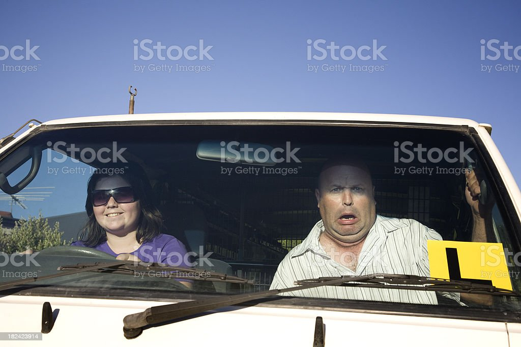 Learner Driver Fears royalty-free stock photo