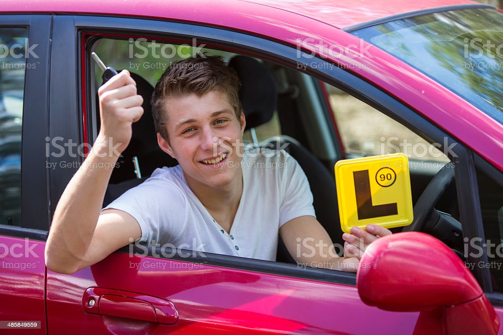 Learner Driver With Keys stock photo