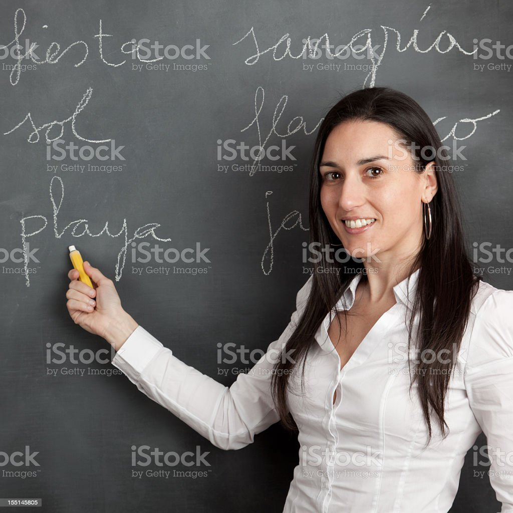 Learnig spanish royalty-free stock photo