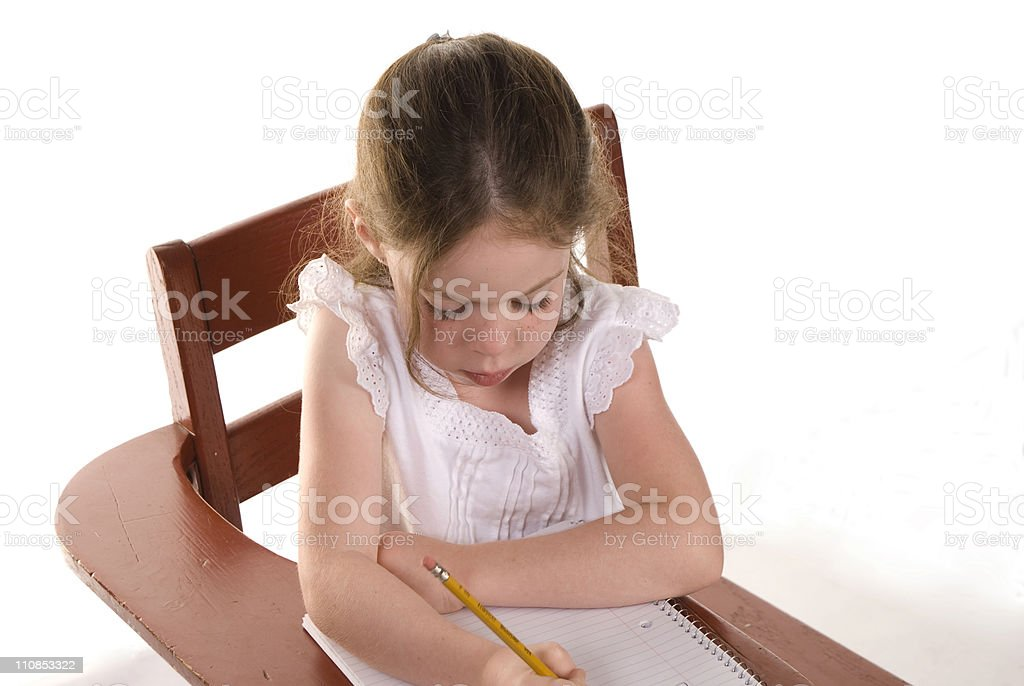 Learning abc's royalty-free stock photo