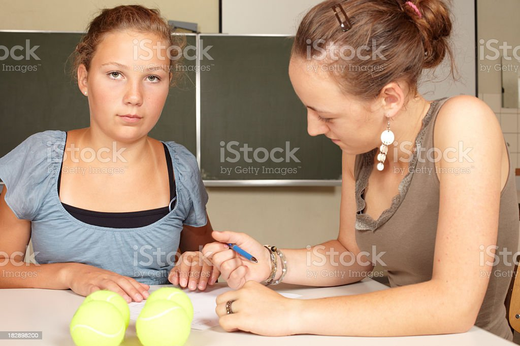 Learning at school royalty-free stock photo