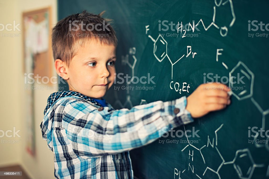 Learning chemistry royalty-free stock photo