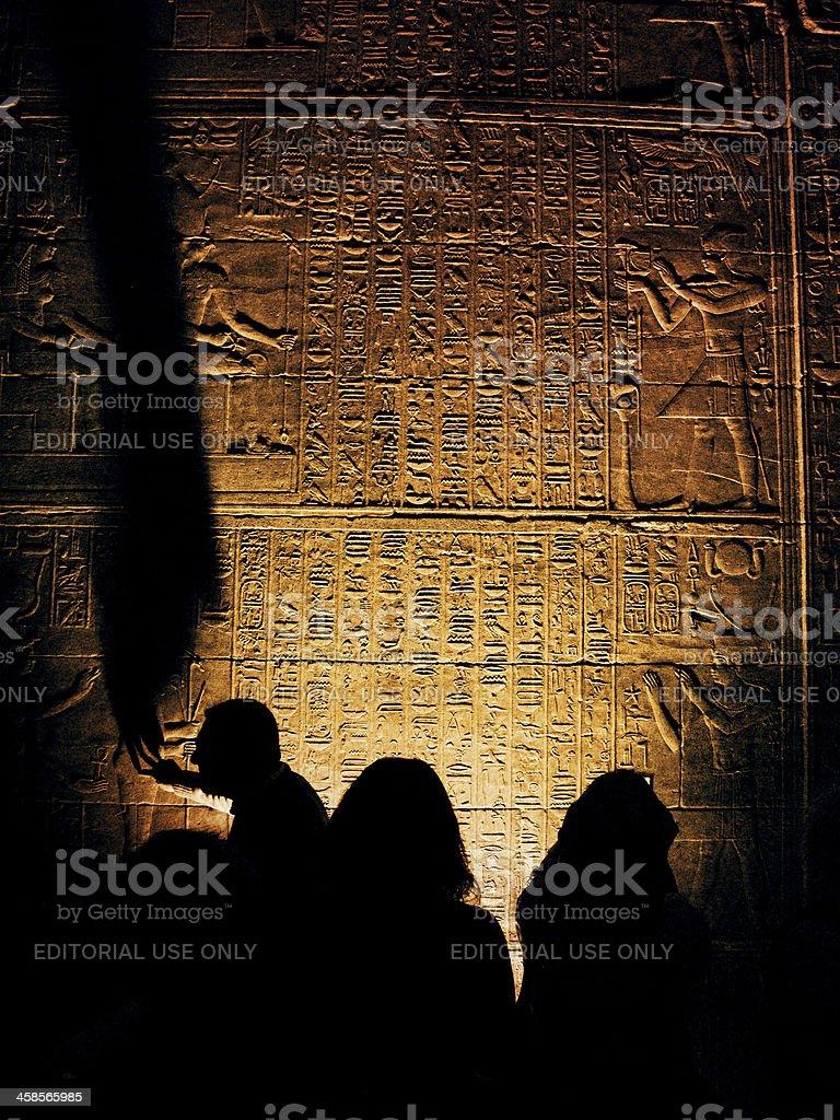 Learning Egyptian History stock photo