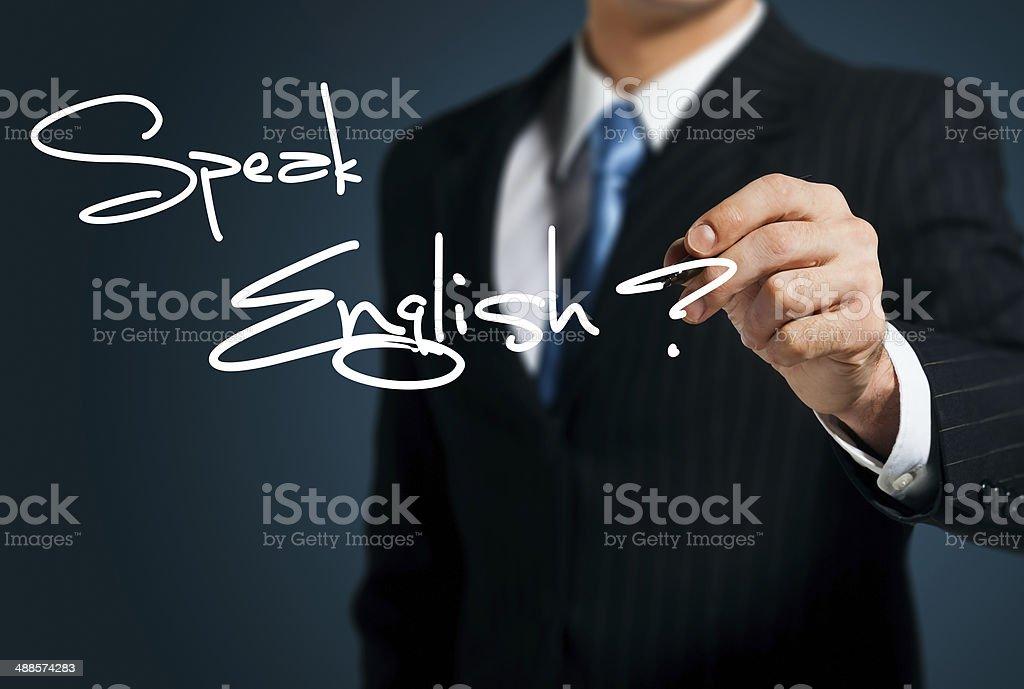Learning English. stock photo