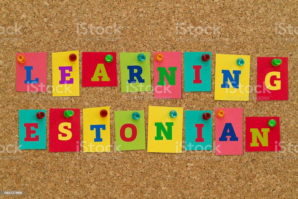 Learning Estonian stock photo