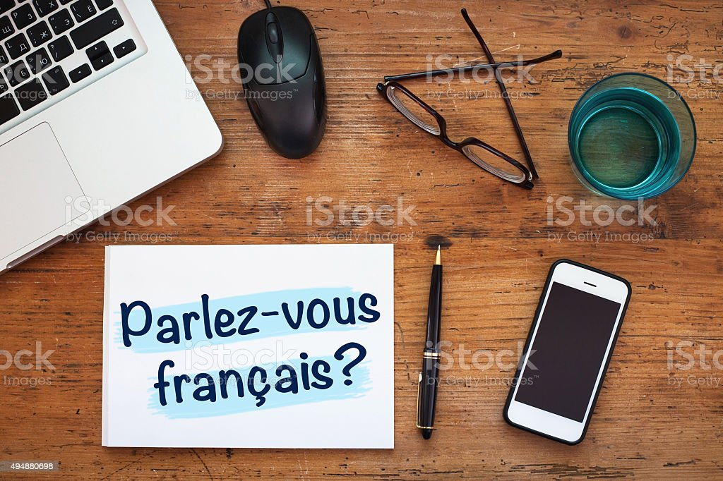learning french concept stock photo