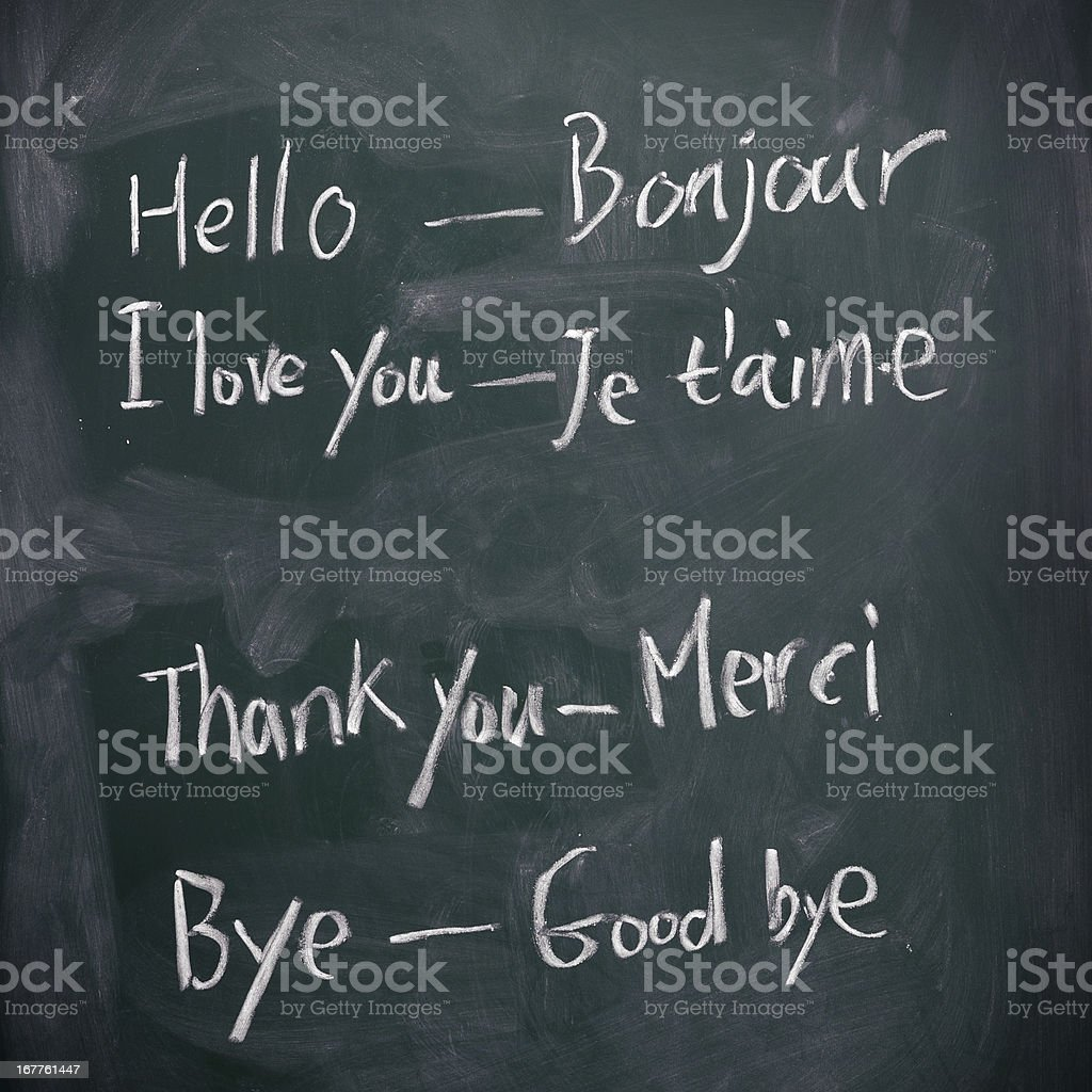 Learning French royalty-free stock photo