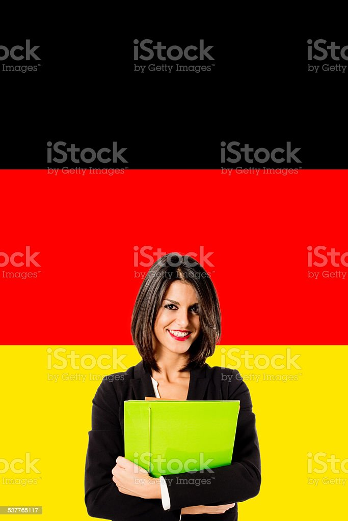 learning german language stock photo