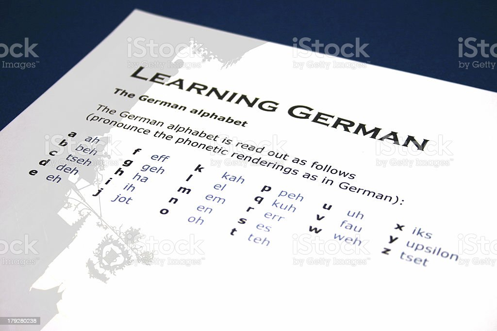 Learning German stock photo