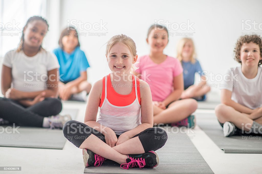 Learning How to Meditate stock photo