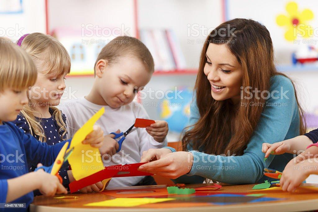 Learning In Preschool royalty-free stock photo