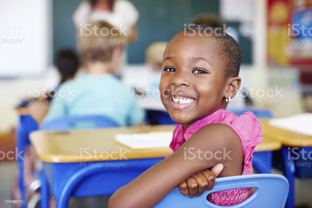 Learning makes me smile royalty-free stock photo