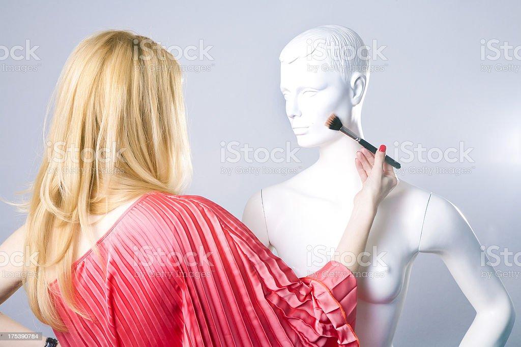 Learning make-up stock photo