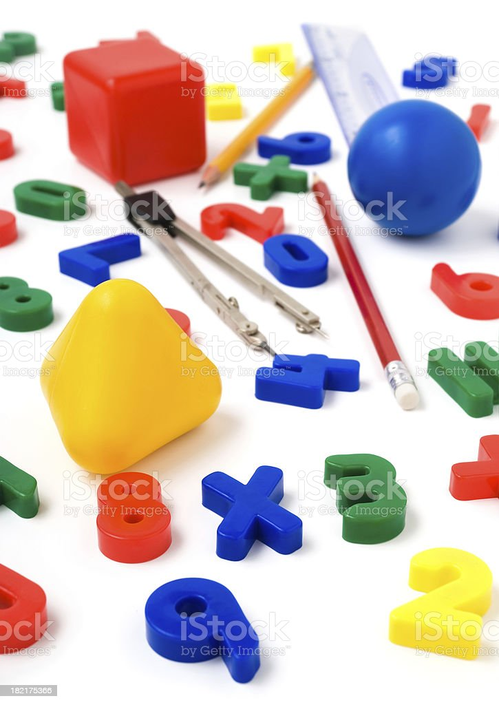 Learning math royalty-free stock photo