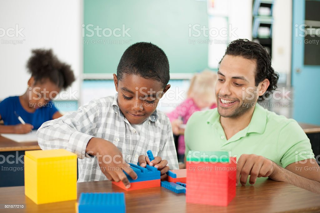 Learning Math Together stock photo
