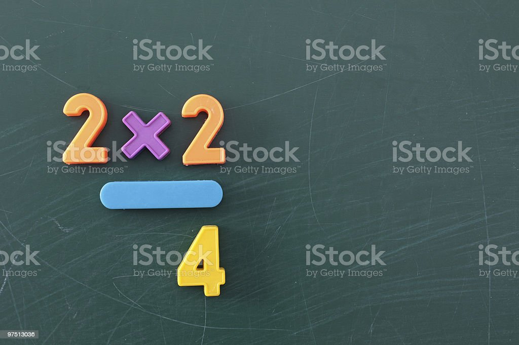 Learning maths royalty-free stock photo