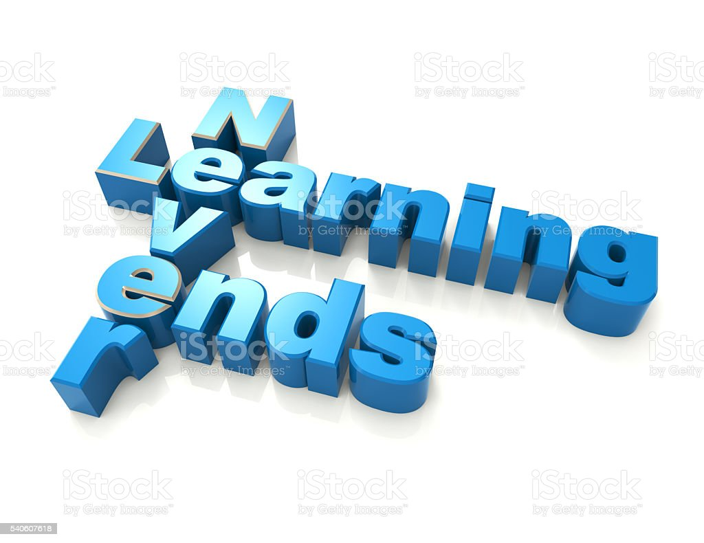 learning never ends crossword puzzle stock photo
