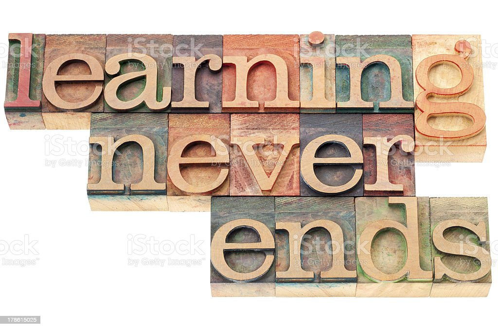learning never ends royalty-free stock photo