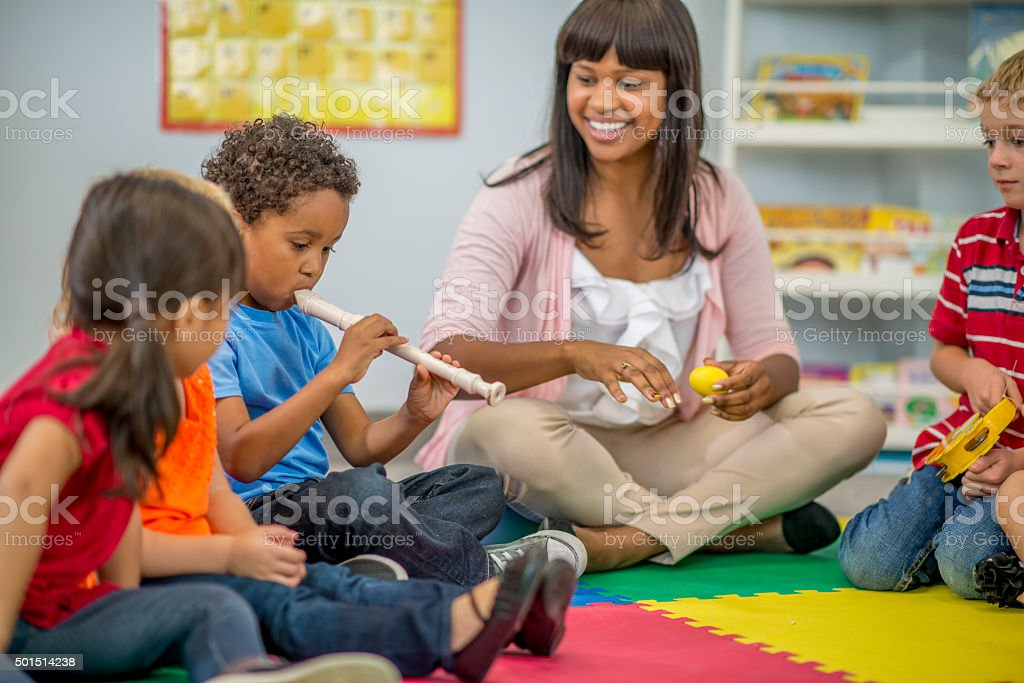 Learning New Sounds in Class stock photo