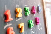 Learning numbers on a blackboard