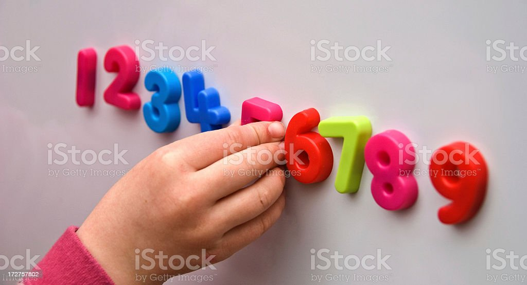 Learning Numbers royalty-free stock photo