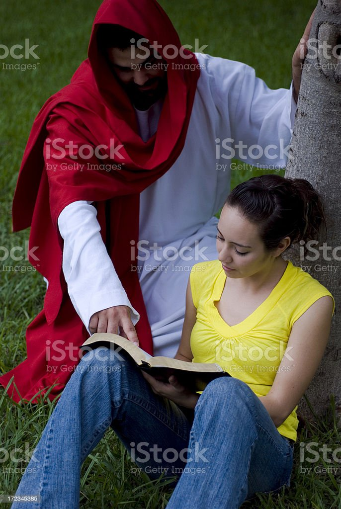Learning of Jesus royalty-free stock photo
