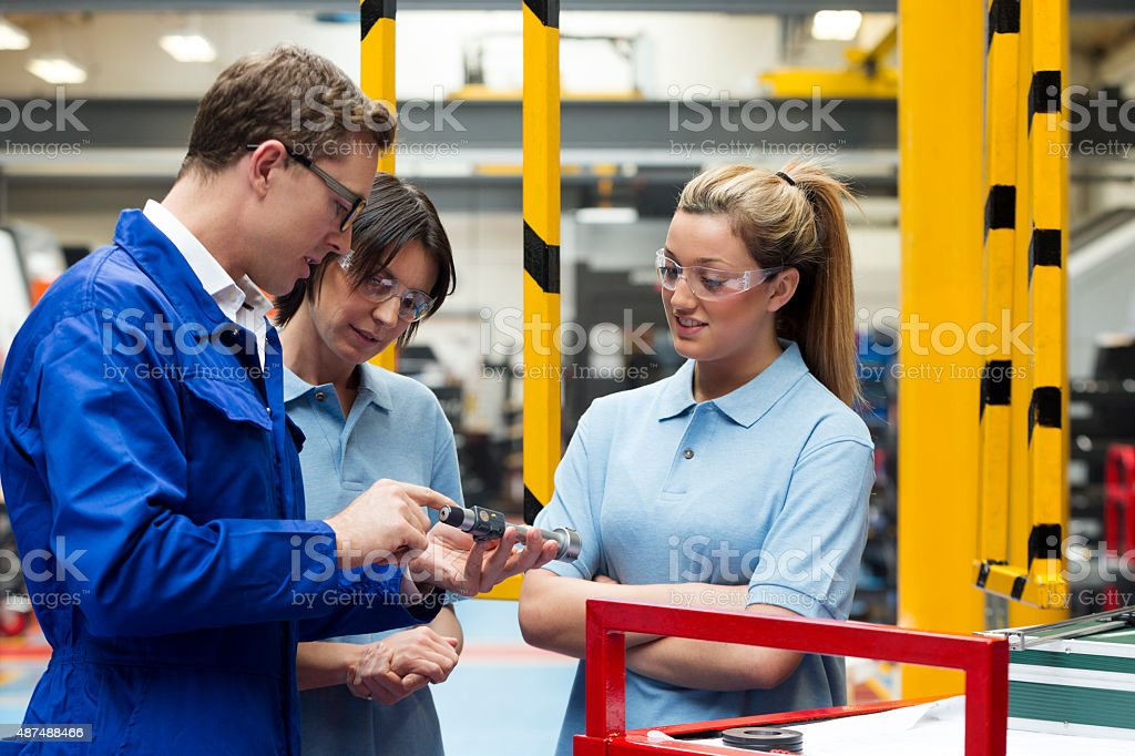 Learning on the Job stock photo