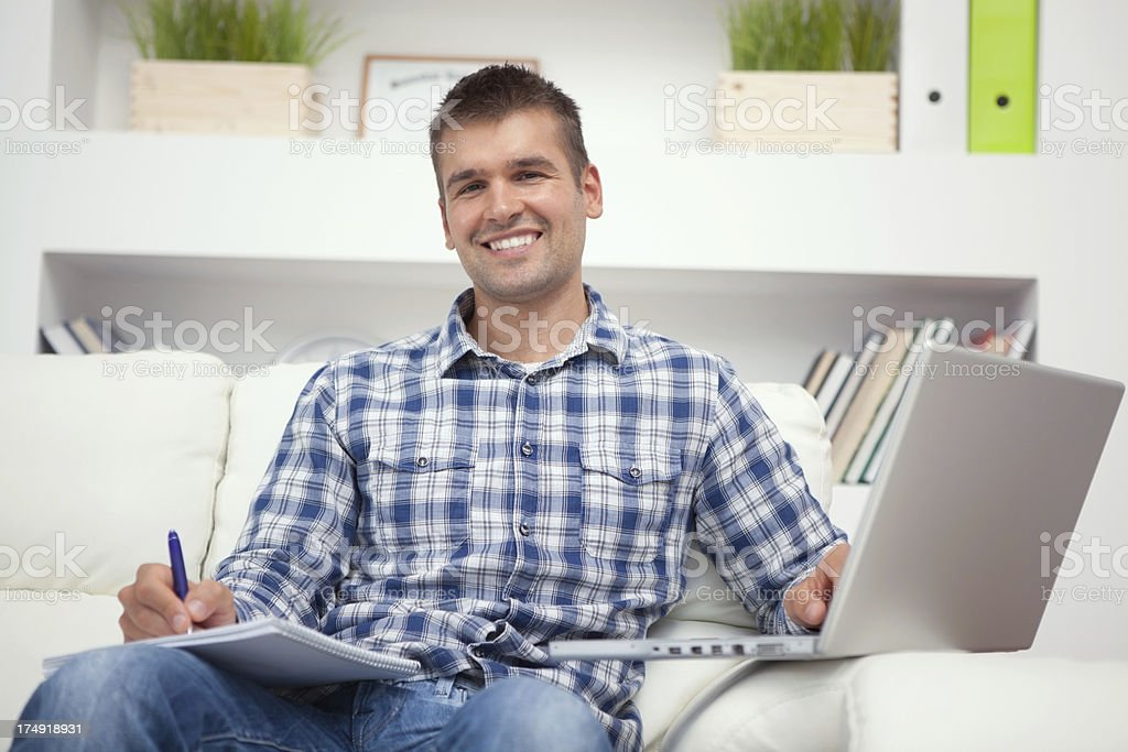 Learning online royalty-free stock photo