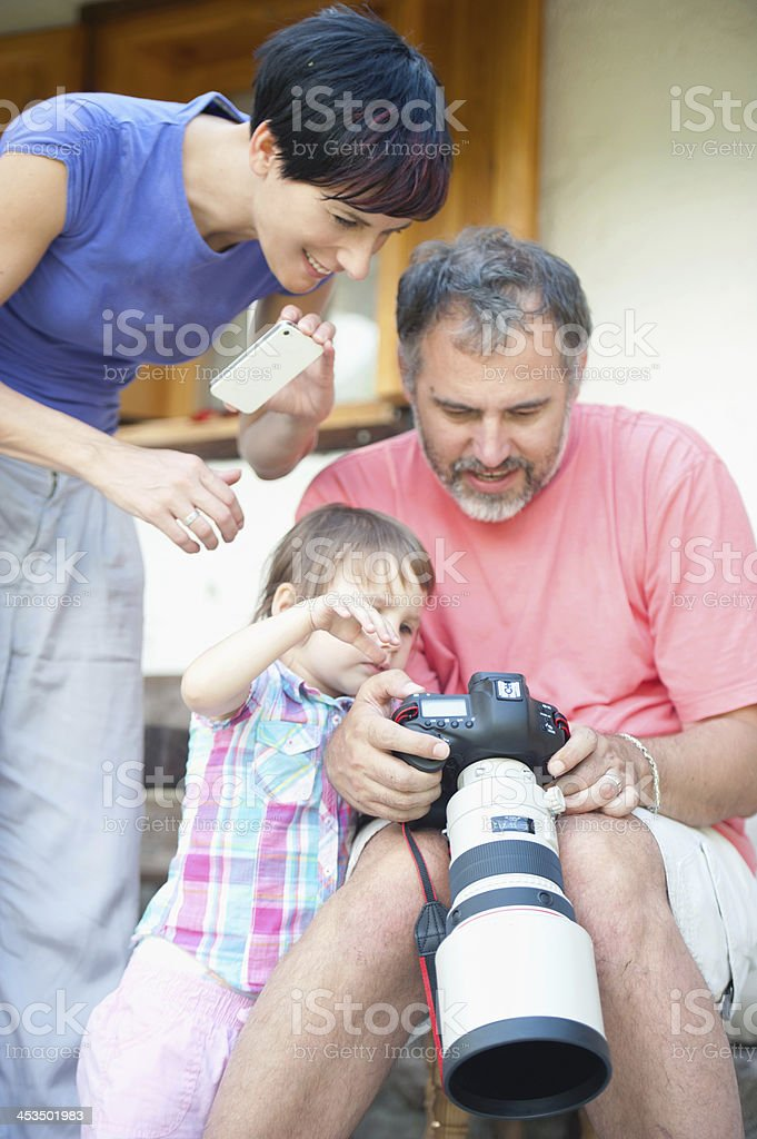 Learning Photography stock photo