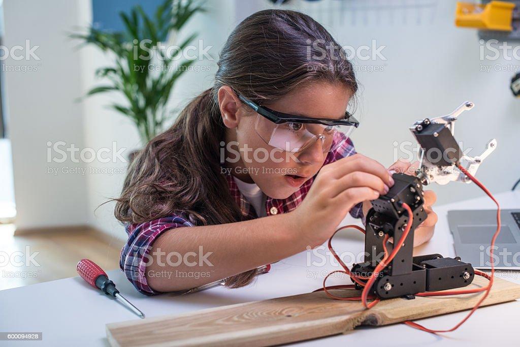 Learning robotics basics stock photo