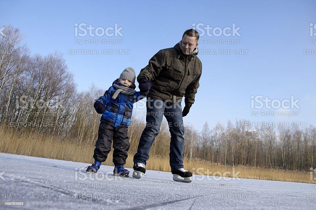 Learning skating royalty-free stock photo