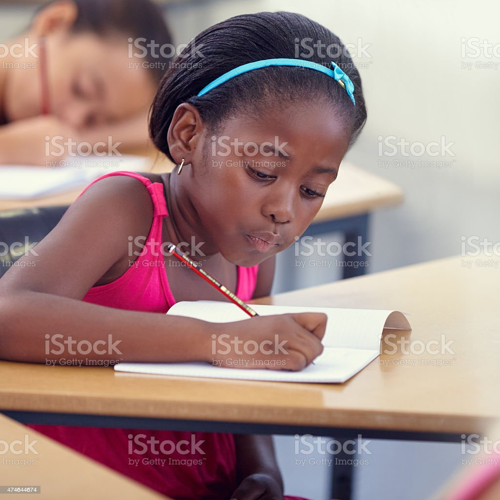 Learning something new every day stock photo