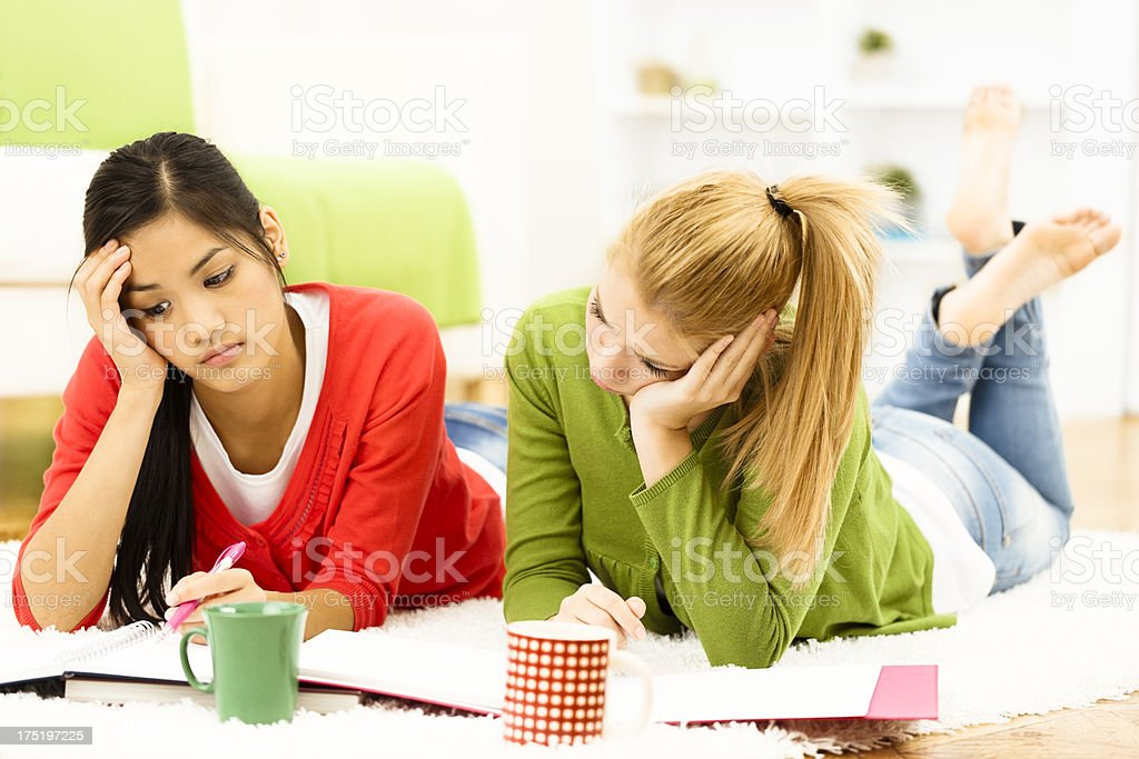 Learning sometimes gets boring royalty-free stock photo