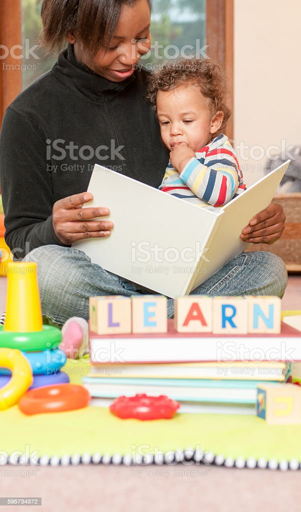 Learning - Storytime at Playgroup stock photo