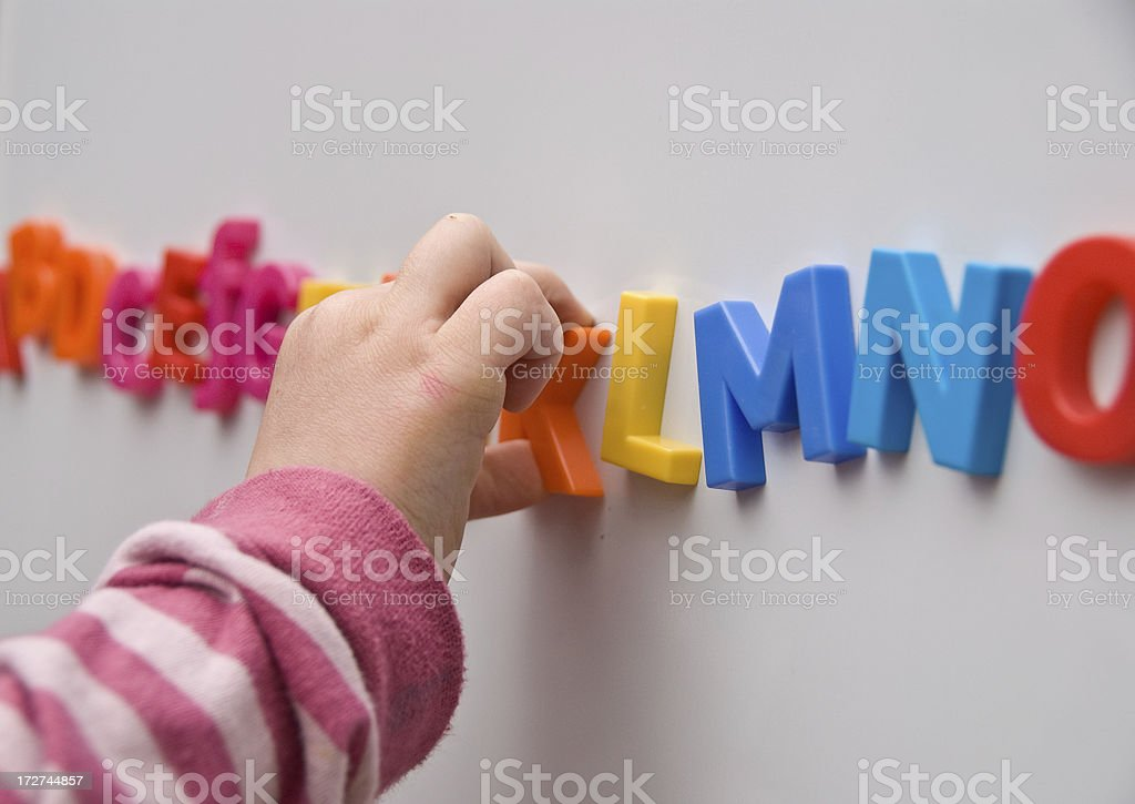 Learning the Alphabet royalty-free stock photo