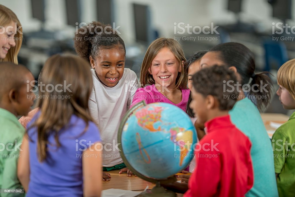 Learning the Places of the World stock photo
