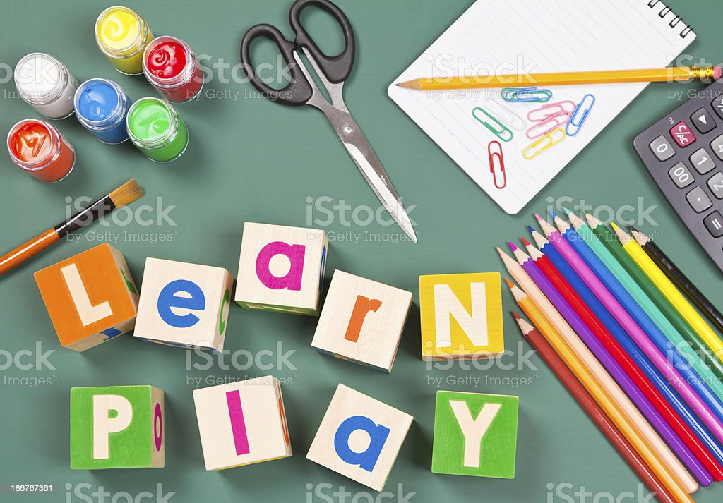 Learning through play concept. royalty-free stock photo