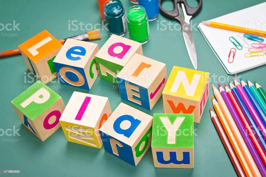 Learning through play royalty-free stock photo