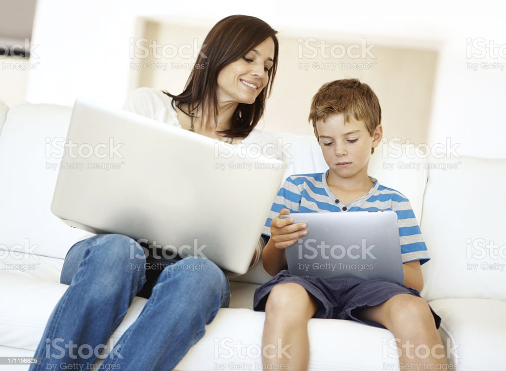 Learning through technology! royalty-free stock photo