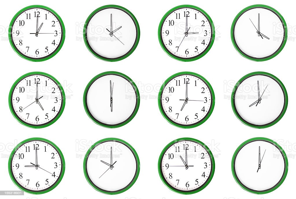 Learning time - odd numbers, green. stock photo